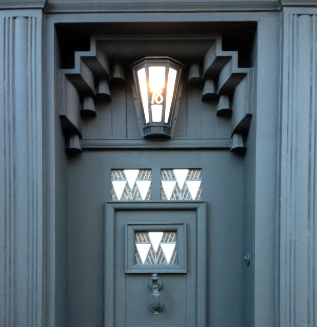 The Doorway to Charles Rennie Mackintosh's 78 Derngate in Northampton, 1917.