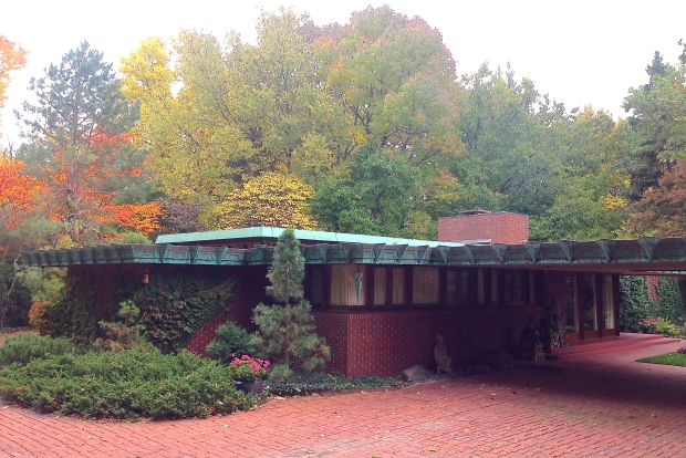 The Samara house, West Lafayette, Indiana, designed by Frank Lloyd Wright for John and Katherine Christian in 1955.