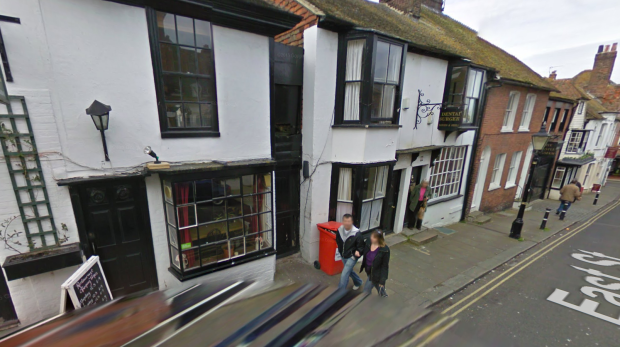 Google Street View screenshot showing East Street in Rye, East Sussex, in 2009.
