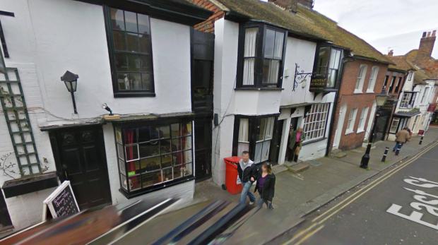 Google Street View screenshot showing East Street in Rye, East Sussex, in 2009.