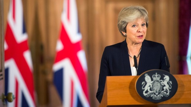 The UK Prime Minister, Teresa May, delivers a speech on Brexit to the EU. Photo credit: Associated Press